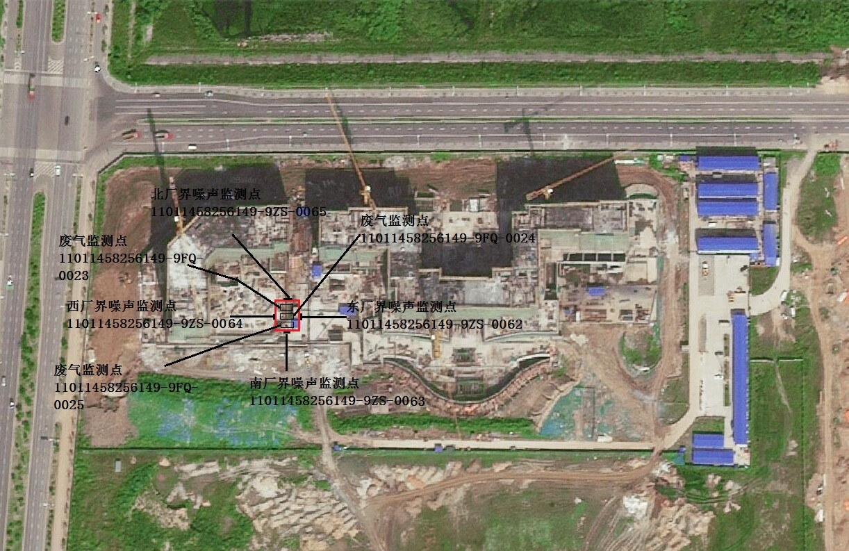泰康调峰锅炉房监测点位置示意图
