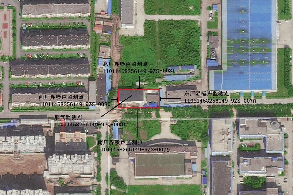 智通路锅炉房监测点位置示意图