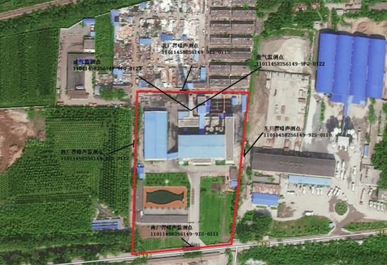 水库路供热厂监测点位置示意图